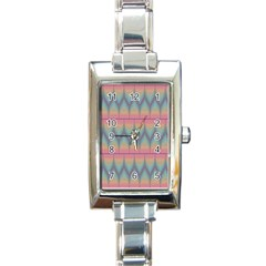 Pattern Background Texture Colorful Rectangle Italian Charm Watch by Simbadda