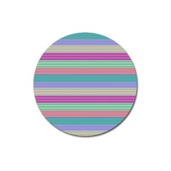 Backgrounds Pattern Lines Wall Magnet 3  (Round) by Simbadda