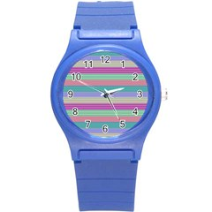 Backgrounds Pattern Lines Wall Round Plastic Sport Watch (s) by Simbadda