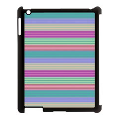 Backgrounds Pattern Lines Wall Apple Ipad 3/4 Case (black) by Simbadda