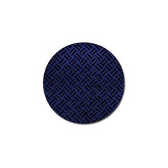 Woven2 Black Marble & Blue Leather (r) Golf Ball Marker (10 Pack) by trendistuff