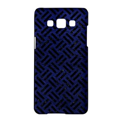 Woven2 Black Marble & Blue Leather (r) Samsung Galaxy A5 Hardshell Case  by trendistuff