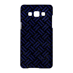 Woven2 Black Marble & Blue Leather Samsung Galaxy A5 Hardshell Case  by trendistuff