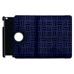 Woven1 Black Marble & Blue Leather (r) Apple Ipad 2 Flip 360 Case by trendistuff