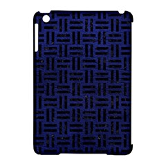 Woven1 Black Marble & Blue Leather (r) Apple Ipad Mini Hardshell Case (compatible With Smart Cover) by trendistuff