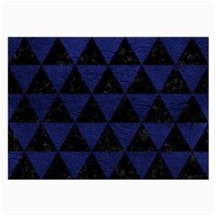 Triangle3 Black Marble & Blue Leather Large Glasses Cloth by trendistuff
