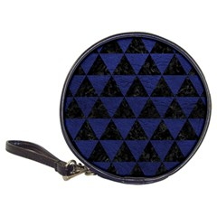 Triangle3 Black Marble & Blue Leather Classic 20 Cd Wallet by trendistuff