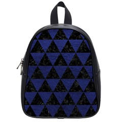 Triangle3 Black Marble & Blue Leather School Bag (small) by trendistuff