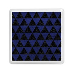 Triangle3 Black Marble & Blue Leather Memory Card Reader (square) by trendistuff