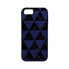 Triangle3 Black Marble & Blue Leather Apple Iphone 5 Classic Hardshell Case (pc+silicone) by trendistuff