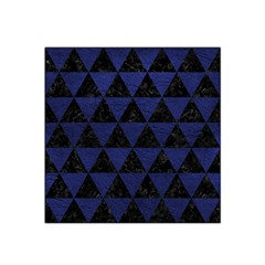 Triangle3 Black Marble & Blue Leather Satin Bandana Scarf by trendistuff