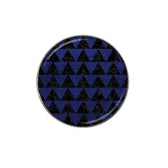 Triangle2 Black Marble & Blue Leather Hat Clip Ball Marker (10 Pack) by trendistuff