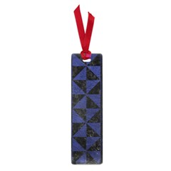 Triangle1 Black Marble & Blue Leather Small Book Mark by trendistuff