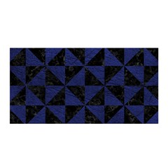 Triangle1 Black Marble & Blue Leather Satin Wrap by trendistuff