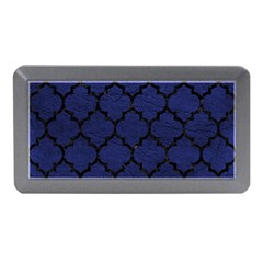 Tile1 Black Marble & Blue Leather (r) Memory Card Reader (mini) by trendistuff