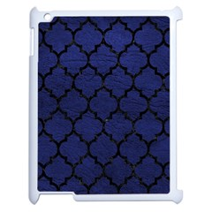Tile1 Black Marble & Blue Leather (r) Apple Ipad 2 Case (white) by trendistuff