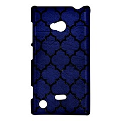 Tile1 Black Marble & Blue Leather (r) Nokia Lumia 720 Hardshell Case by trendistuff