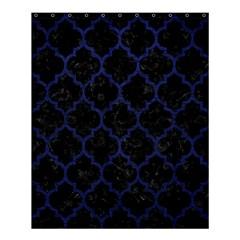 Tile1 Black Marble & Blue Leather Shower Curtain 60  X 72  (medium) by trendistuff
