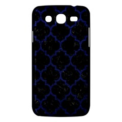 Tile1 Black Marble & Blue Leather Samsung Galaxy Mega 5 8 I9152 Hardshell Case  by trendistuff