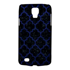 Tile1 Black Marble & Blue Leather Samsung Galaxy S4 Active (i9295) Hardshell Case by trendistuff