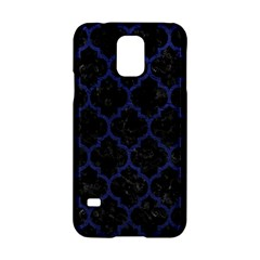 Tile1 Black Marble & Blue Leather Samsung Galaxy S5 Hardshell Case  by trendistuff