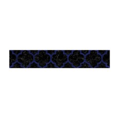 Tile1 Black Marble & Blue Leather Flano Scarf (mini) by trendistuff