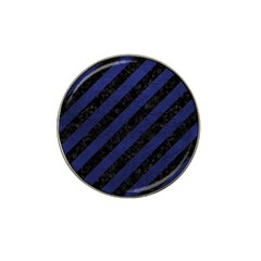 Stripes3 Black Marble & Blue Leather Hat Clip Ball Marker (4 Pack) by trendistuff