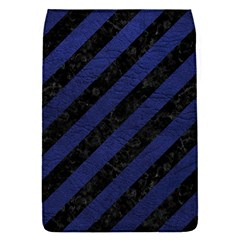 Stripes3 Black Marble & Blue Leather Removable Flap Cover (s) by trendistuff