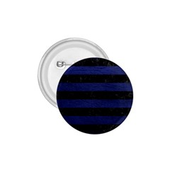Stripes2 Black Marble & Blue Leather 1 75  Button by trendistuff