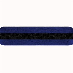 Stripes2 Black Marble & Blue Leather Large Bar Mat by trendistuff