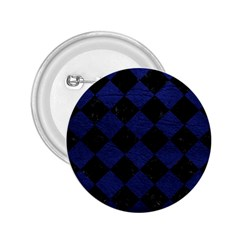 Square2 Black Marble & Blue Leather 2 25  Button by trendistuff