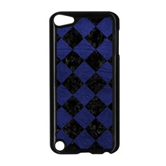 Square2 Black Marble & Blue Leather Apple Ipod Touch 5 Case (black) by trendistuff