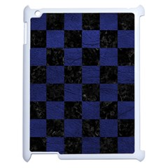 Square1 Black Marble & Blue Leather Apple Ipad 2 Case (white) by trendistuff