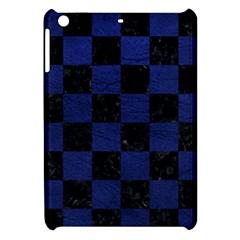 Square1 Black Marble & Blue Leather Apple Ipad Mini Hardshell Case by trendistuff