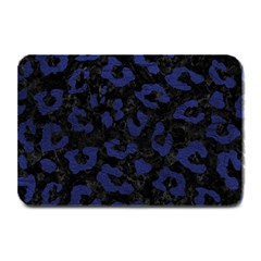 Skin5 Black Marble & Blue Leather (r) Plate Mat by trendistuff