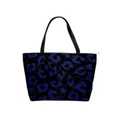 Skin5 Black Marble & Blue Leather (r) Classic Shoulder Handbag by trendistuff