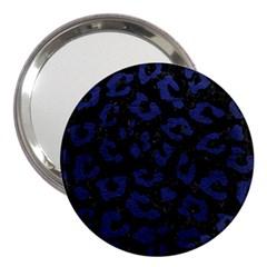 Skin5 Black Marble & Blue Leather (r) 3  Handbag Mirror by trendistuff