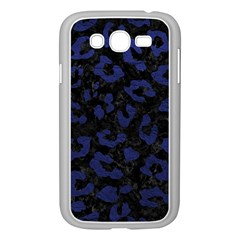 Skin5 Black Marble & Blue Leather (r) Samsung Galaxy Grand Duos I9082 Case (white) by trendistuff