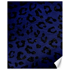 Skin5 Black Marble & Blue Leather Canvas 16  X 20  by trendistuff