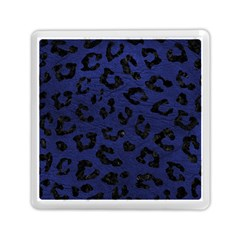 Skin5 Black Marble & Blue Leather Memory Card Reader (square) by trendistuff