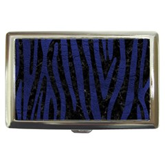 Skin4 Black Marble & Blue Leather (r) Cigarette Money Case by trendistuff