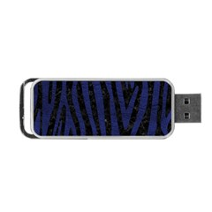 Skin4 Black Marble & Blue Leather (r) Portable Usb Flash (two Sides) by trendistuff