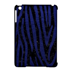 Skin4 Black Marble & Blue Leather (r) Apple Ipad Mini Hardshell Case (compatible With Smart Cover) by trendistuff