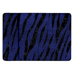 Skin3 Black Marble & Blue Leather (r) Samsung Galaxy Tab 8 9  P7300 Flip Case by trendistuff