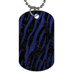 Skin3 Black Marble & Blue Leather Dog Tag (one Side) by trendistuff