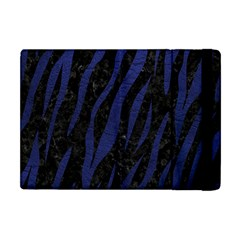 Skin3 Black Marble & Blue Leather Apple Ipad Mini Flip Case by trendistuff