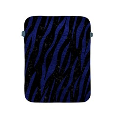 Skin3 Black Marble & Blue Leather Apple Ipad 2/3/4 Protective Soft Case by trendistuff