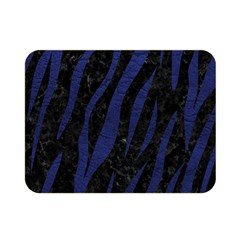 Skin3 Black Marble & Blue Leather Double Sided Flano Blanket (mini) by trendistuff