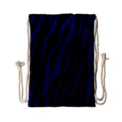 Skin3 Black Marble & Blue Leather Drawstring Bag (small) by trendistuff