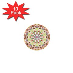 Intricate Flower Star 1  Mini Buttons (10 Pack)  by Alisyart